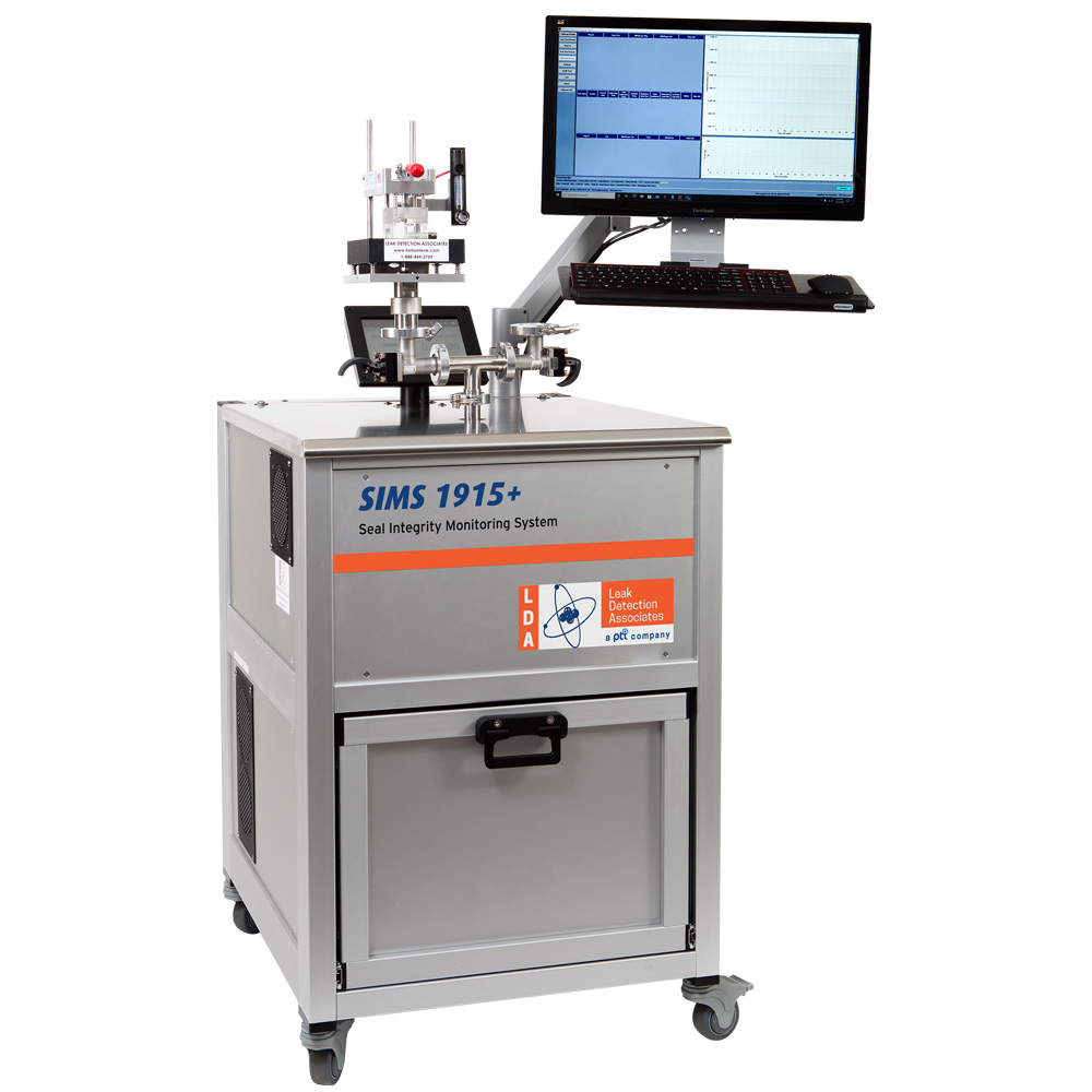 helium leak detection SIMS 1915+ with vial